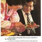 Korean Air Lines Stewardess KAL Airlines Vintage Ad 1984 Olympics