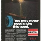 Uniroyal Tire Tiger Paw Plus With Royal Seal Vintage Ad 1984 Olympics