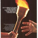 AT&T Long Distance Connection Olympic Torch Vintage Ad 1984 Olympics