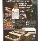 Silver Reed Official Typewriter Martina Navratilova Vintage Ad 1984 Olympics
