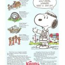 Knotts Berry Farm Snoopy Even Gold Medal Winners Need Day Off Vintage Ad 1984 Olympics