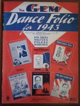 GEM Dance Folio 1943 Elmer Hughes Songbook Sheet Music