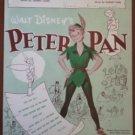 Peter Pan Sheet Music Your Mother and Mine Walt Disney 1951 Cahn Fain