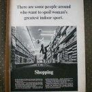 Shopping Indoor Sport Magazine Publishers Association 1968 Vintage Ad