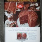 Betty Crocker German Chocolate Cake Vintage Ad 1968