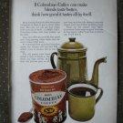 S&W Columbian Coffee Juan Valdez Vintage Ad 1968
