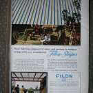 Filon Stripes Fiberglass Panels Vintage Ad 1968