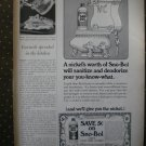 Sno Bol Toilet Bowl Cleaner Liquid Coupon 1968 Vintage Ad