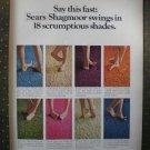 Sears Shagmoor carpet  Vintage Ad 1968
