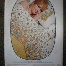 Springmaid Wondercale Kodel Flower Dance Sheet Vintage Ad 1968