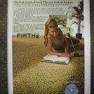 Firth Carpets Rugs Murano Pure Wool Pile Vintage Ad 1968