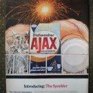 Ajax Sparkler Dishwasher Detergent Automatic Vintage Ad 1968
