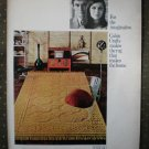Cabin Crafts Rug Royal Empress Acrilan Vintage Ad 1968