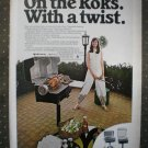 Charmglow Charm-Roks Gas Grill Briquets Vintage Ad 1968