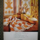 Cannon Royal Family Kitchen Towels Gingerbread Man Vintage Ad 1968