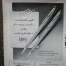 Cross Pen Writing Instruments 1968 Vintage Ad