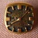 Clock Button Gold Square Small Plastic Lot 7 Watch Sewing Crafts
