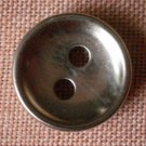 Sewing Button Round Plain Silver 2-hole Metal 12mm Lot 5