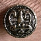Sewing Button Round Eagle Arrow Button Silver 1.9cm Self Shank Lot 4