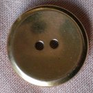 Sewing Button Round Plain Gold 2-hole Metal 23mm Lot 5