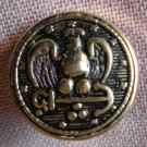 Sewing Button Round Eagle Arrow Button Gold Black 1.6cm Self Shank Lot 6