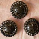 Large Brown Buttons Swirl Round Vintage Plastic Pinwheel