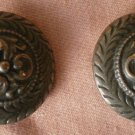 Large Metal Button Paisley Lot 2 Metal Shank