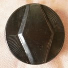 Large Plastic Button Geometric Black Art Deco Metal Shank