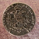 Burg Co Tyr 1780 X Archid Avst Dux Button Silver Metal Maria Theresa Thaler