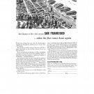 San Francisco When Fleet Comes Home Vintage Ad 1944