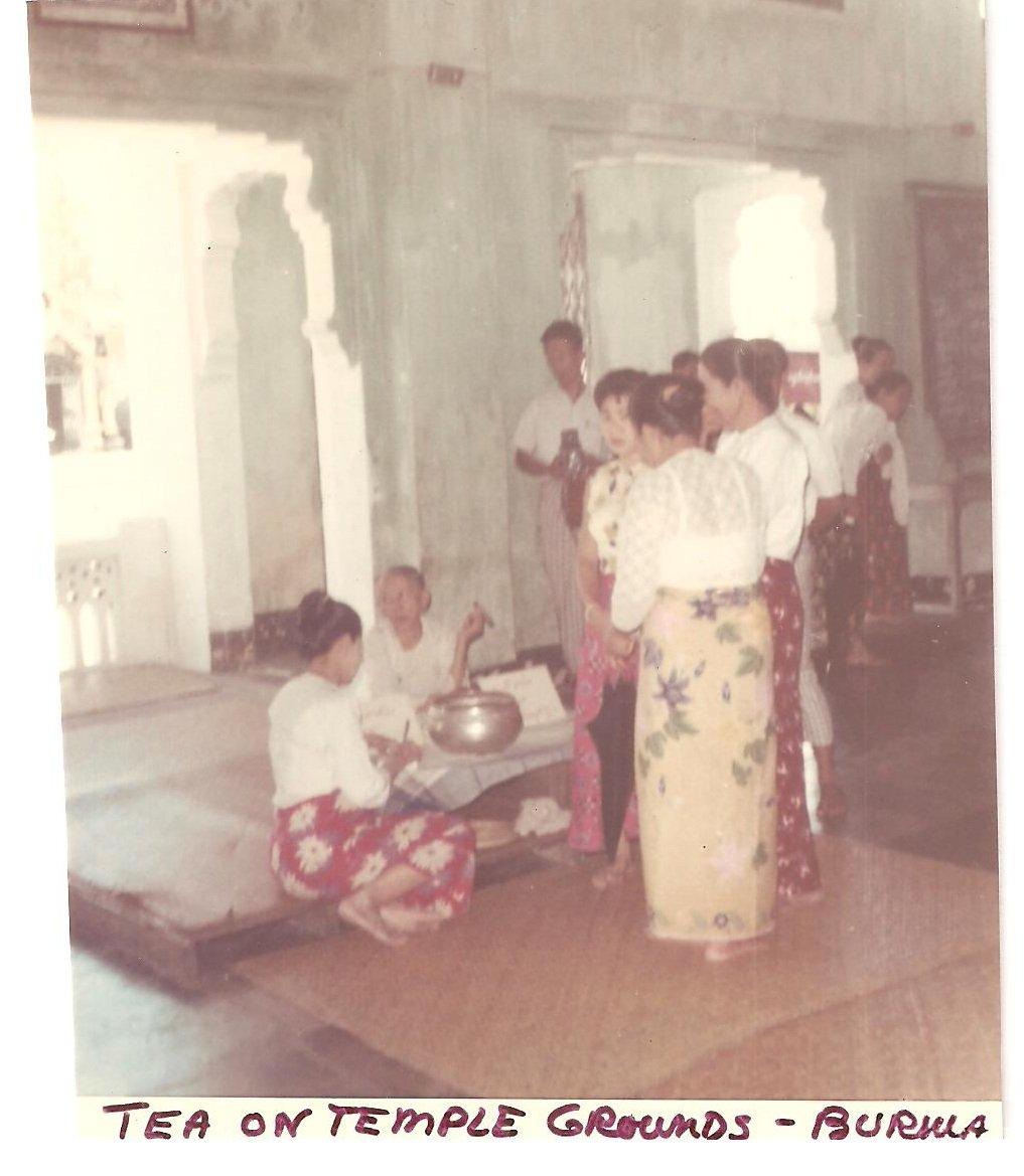 Vintage Photograph Burma Tea Temple Grounds 1968 Myanmar