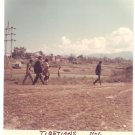 Vintage Photograph Tibetians Tibet Walking 1968