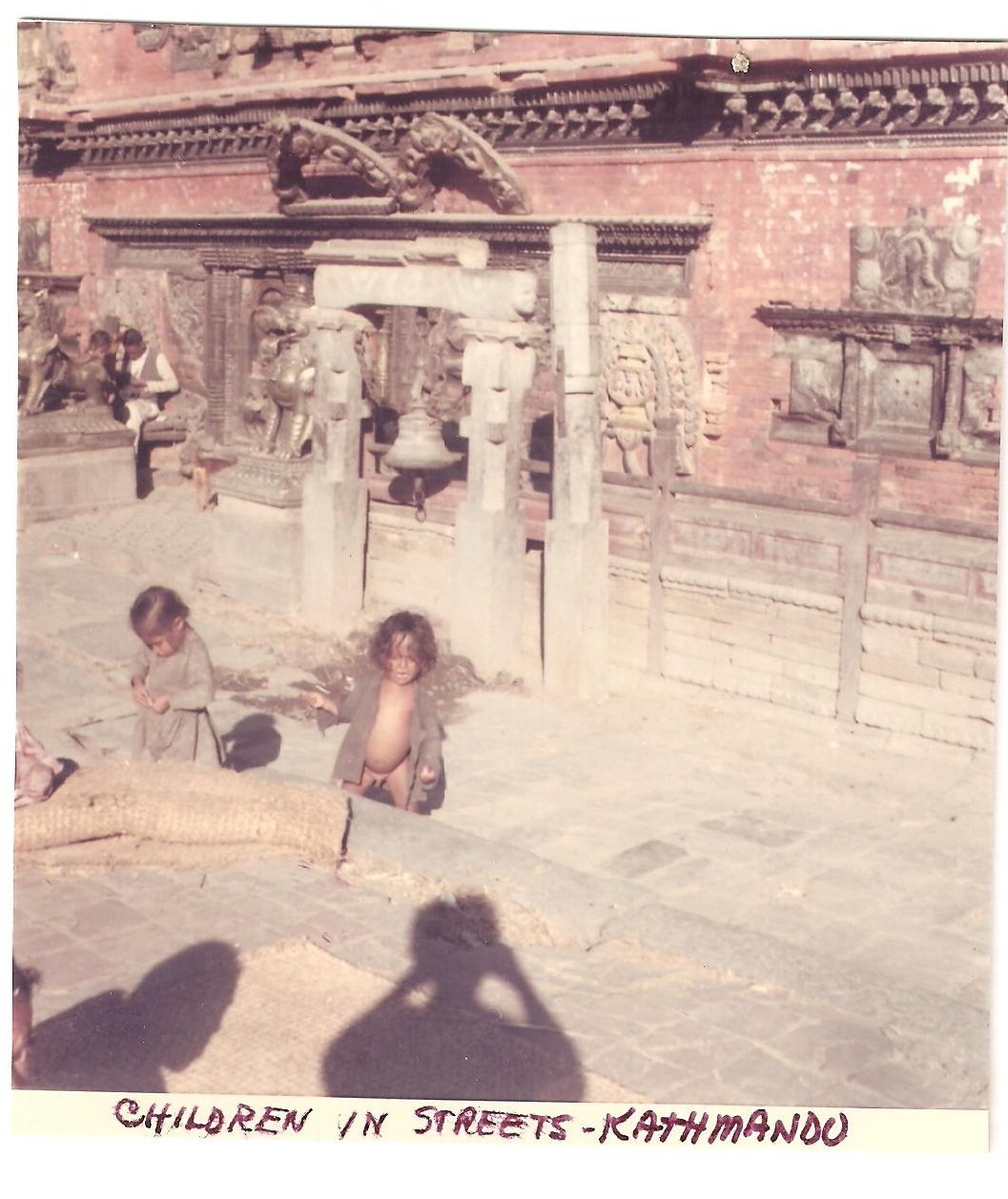 Vintage Photograph Children Playing Kathmandu Nepal 1968