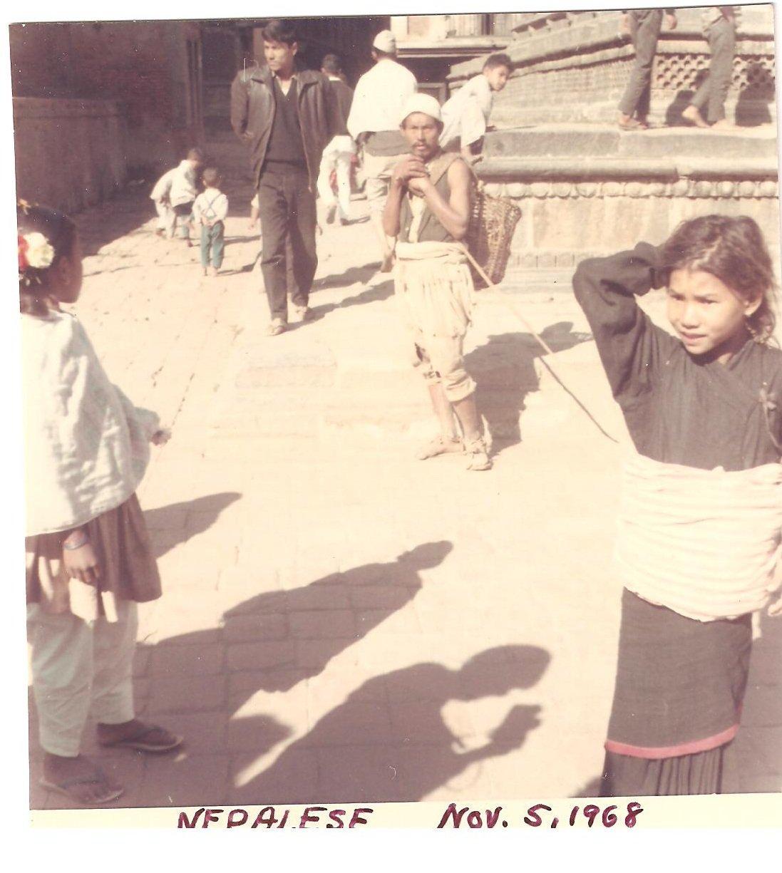 Vintage Photograph Nepalese Child City Nepal 1968