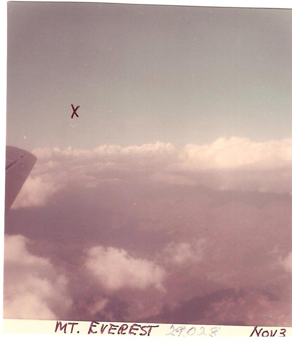 Vintage Photograph Mt Everest Clouds Nov 1968