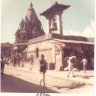 Vintage Photograph City Streets Nepal 1968