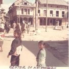Vintage Photograph Center Kathmandu Children Walking Nepal 1968