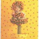Anne Geddes Postcard 1995 Baby 605-096 Orange Tree 4x6