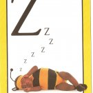 Anne Geddes Postcard 1995 605-079 Z is for zzzz Bumblebee Sleeping Baby 4x6