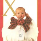 Anne Geddes Postcard 1995 605-077 X is for Xmas Baby 4x6