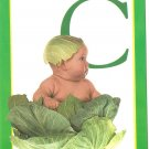 Anne Geddes Postcard 1995 605-056 C is for Cabbage Baby 4x6