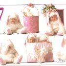 Anne Geddes Postcard 1995 605-086 7 Bunny Rabbit Baby 4x6