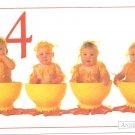 Anne Geddes Postcard 1995 605-083 4 Duckling Baby 4x6