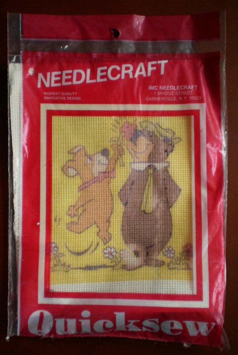 IMC Needlecraft Kit Quicksew Yogi Boo Boo Bear Hanna Barbera