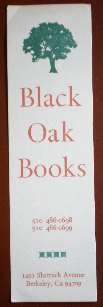 Bookmark Black Oak Books Berkeley CA Bookstore Vintage