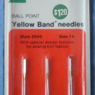Singer Ball Point Yellow Band Needles 2045 SIMS 4316 C-431 Sz14