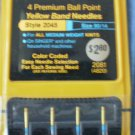 Singer Premium Ball Point Yellow Band Needles 2045 90/14 2081 4820 NOS