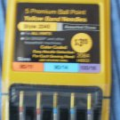 Singer Premium Ball Point Yellow Band Needles 2045 Asstd Size 80/11 90/14 100/16 2084
