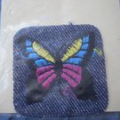 Iron On Patch Butterfly Denim Designer Fabrics NOS