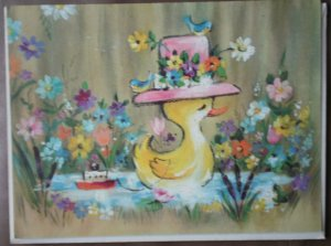 Friendship Card Please Write Coronation Collection Vintage Greeting 75622 Stationery Duck